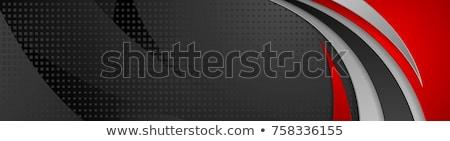 аннотация черный Tech красный волны вектора Сток-фото © saicle