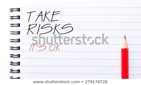 Take the risk text on notepad Stock photo © fuzzbones0