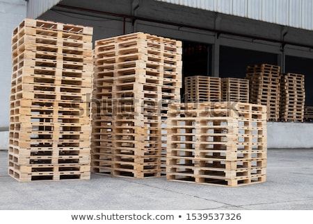 Stock photo: Cargo wooden pallets