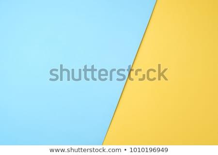 Couleur papier ensemble papiers vert bleu Photo stock © -Baks-