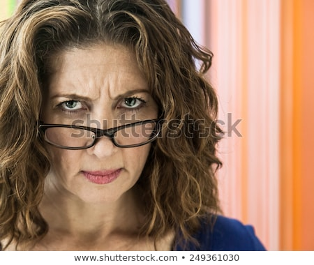 businesswoman - angry frown Stock photo © dgilder