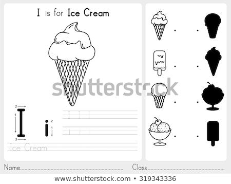 手紙i アイスクリームコーン 実例 子供 子 背景 ストックフォト © bluering