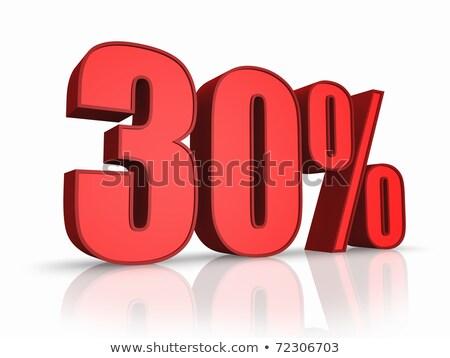 красный тридцать процент знак изолированный белый Сток-фото © Oakozhan