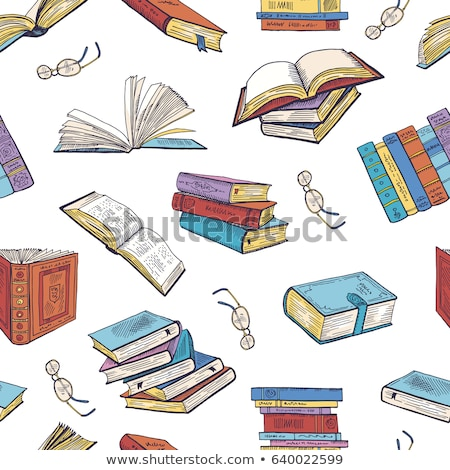 vector flat style school books illustration seamless pattern stock photo © creatorsclub