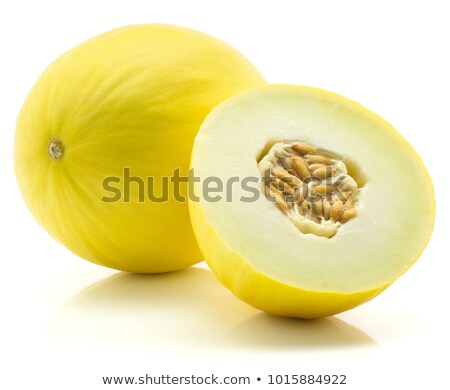 Melon honeydew and two melon slices stock photo © Leftleg