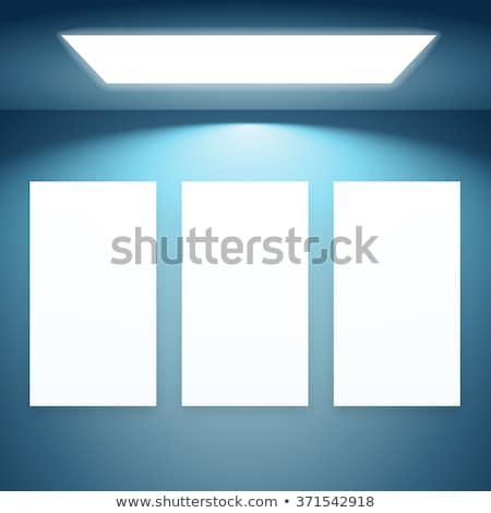 three presentation fram with lights stock photo © sarts