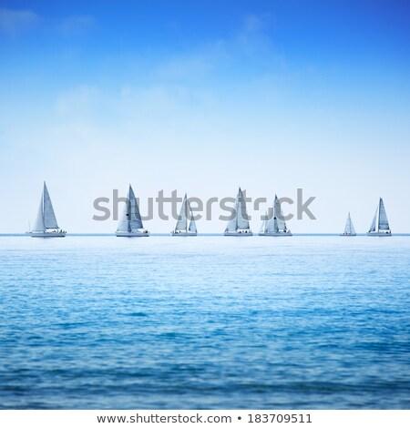 海 表示 ボード セーリング ボート ヨット ストックフォト © dolgachov