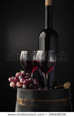 Grapes in wood barrel Stock photo © simply