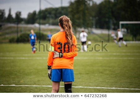 サッカー 女性 サッカーボール 孤立した ストックフォト © Saphira
