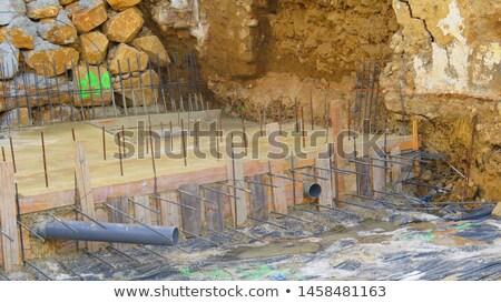 Stock fotó: Ipari · épületek · anyagok · elpusztított · fém · üzlet