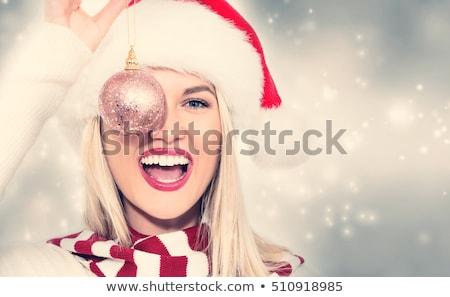 Smiling Christmas lady stock photo © elwynn