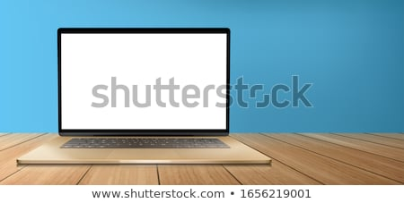Moderne houten desktop kantoor werkplek Stockfoto © -Baks-