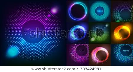 Colorido anillos negro diseno Foto stock © saicle