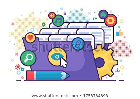 персонал бизнеса папке каталог карт Сток-фото © tashatuvango