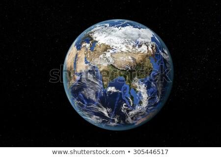 toprak · uzay · Asya · uzak · ayrıntılı - stok fotoğraf © timh