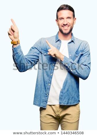 Cheerful Man in Blue Jacket Stock photo © filipw