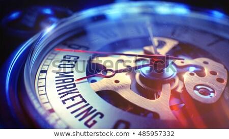 Geo Marketing - Inscription on Pocket Watch. 3D. Stock photo © tashatuvango