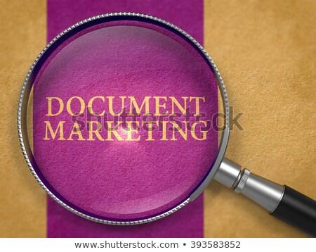 Documento marketing lente papel velho escuro Foto stock © tashatuvango