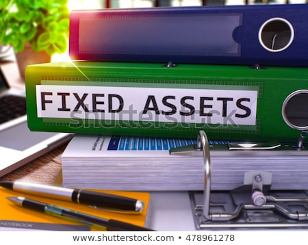 Blue Office Folder with Inscription Financial Assets. Stock photo © tashatuvango