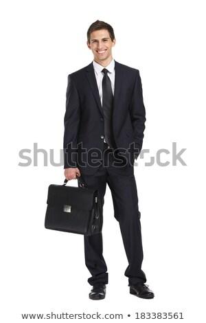 Retrato hombre maletín empresario de trabajo Foto stock © IS2