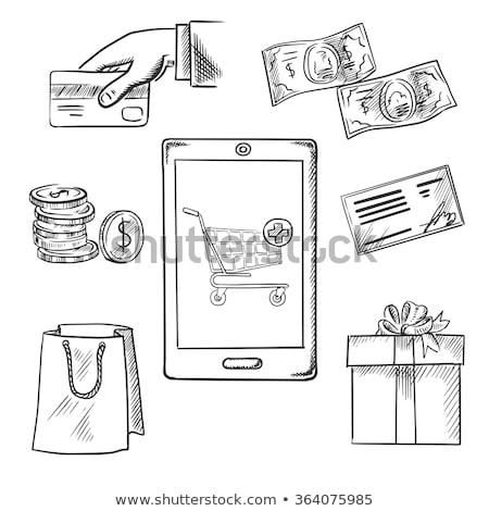 オンラインショッピング スケッチ アイコン ベクトル 孤立した 手描き ストックフォト © RAStudio