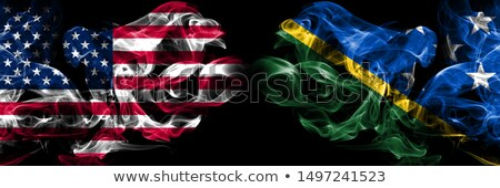 Football in flames with flag of solomon islands Stock photo © MikhailMishchenko