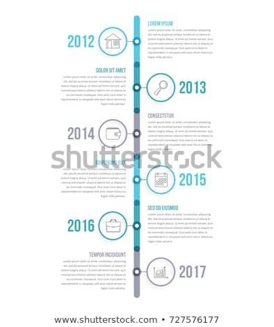 Vertical chronologie modèle vecteur coloré papiers Photo stock © orson