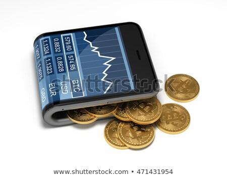 mobil · bankügylet · okostelefon · online · fizetés · érmék - stock fotó © anna_leni
