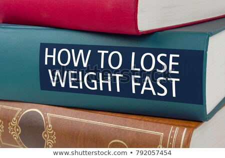 A book with the title How to  lose weight fast Stock photo © Zerbor