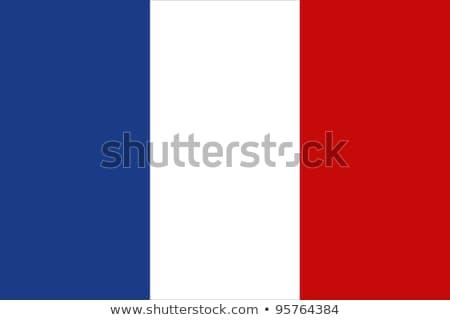 Bayrak Fransa fransız beyaz mavi Stok fotoğraf © gravityimaging