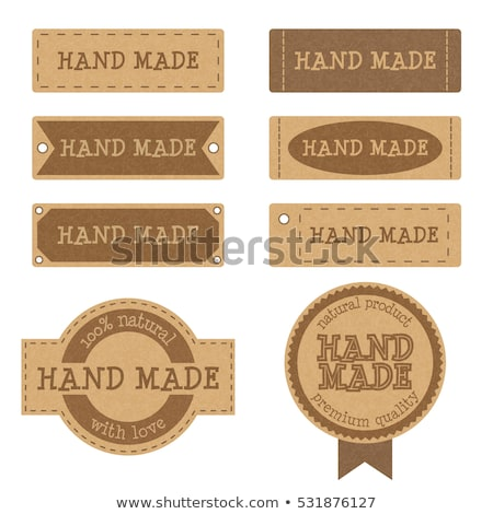 cardboard background with natural labels stock photo © barbaliss