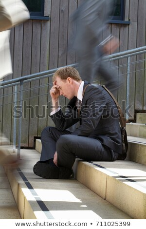 Time lapse view of depressed businessman Stock photo © IS2