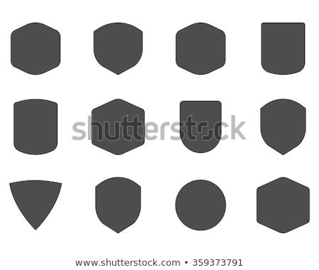 Vintage cadre forme forme logo étiquette Photo stock © JeksonGraphics