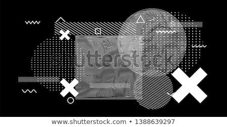 Minimális fekete részecskék vektor Stock fotó © SArts