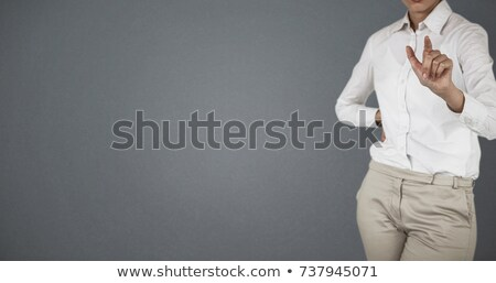Mid section of businesswoman using digital screen Stock photo © wavebreak_media