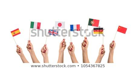 educação · escolas · citar · espanhol · linguagem · tipografia - foto stock © voysla