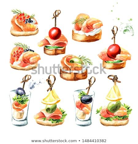 Foto stock: Aperitivo · alimentos · verano · mesa · queso · brindis