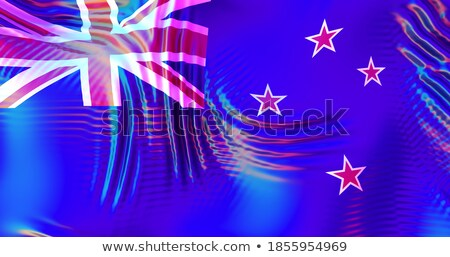 New Zealand LGBT flag. Symbol of tolerant. Gay sign rainbow Stock photo © popaukropa