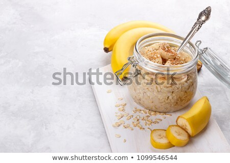old fashioned oats and banana Stock photo © Lana_M