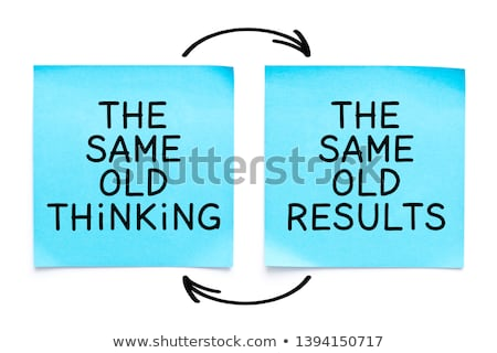 Vieux pense résultats note collante écrit jaune Photo stock © ivelin