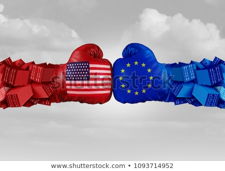 amerikai · európai · gazdasági · nagybácsi · harap · Euro - stock fotó © lightsource