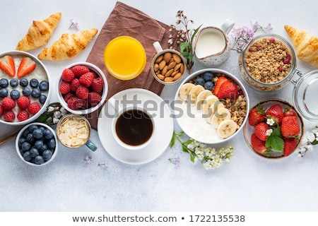 Healthy breakfast with coffee and cereals Stock photo © Melnyk