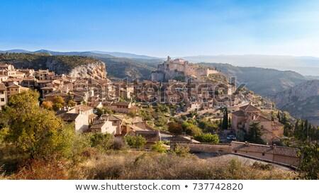 the medieval town of Alquezar, Spain Stock photo © LianeM