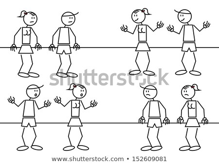 Stick figures with many different emotions Stock photo © Ustofre9