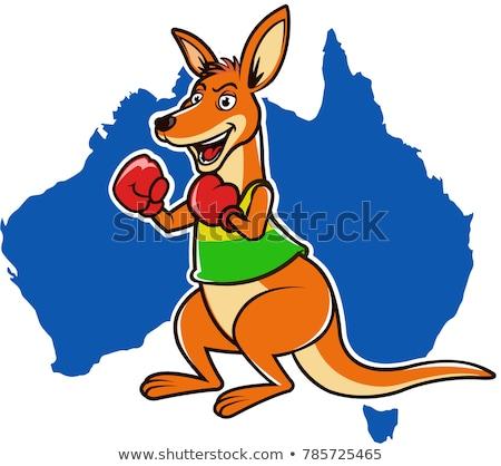 Avustralya avustralya boks el kutu Stok fotoğraf © popaukropa