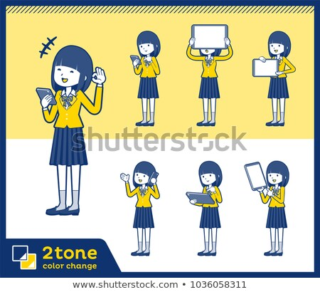 Stock photo: 2tone type school girl Blazer_set 06