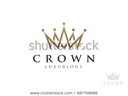 Creativa corona logo establecer anuncio propiedad Foto stock © krustovin