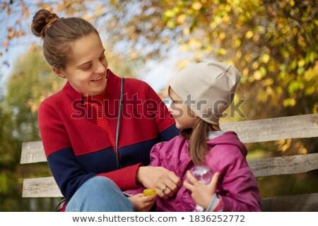 Bun hair mom travel Stock photo © toyotoyo