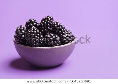 Pile of delicious blackberries stock photo © hraska