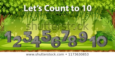 lets count to 10 jungle scene Stock photo © bluering
